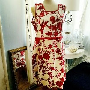 Red Hot Floral - Pretty Darn Cute Floral Shift